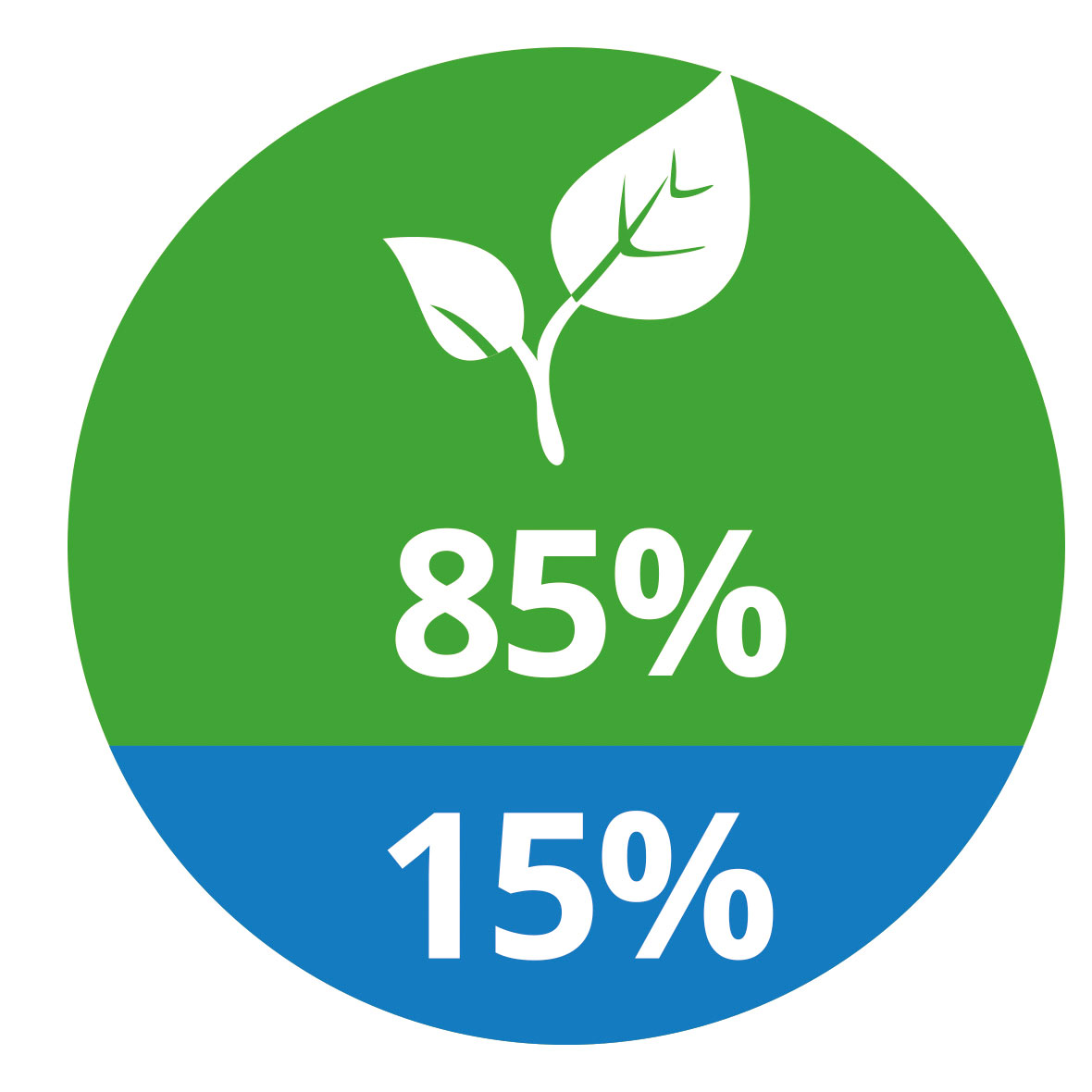 85% Zellstoff - 15% Ethylen-Vinylacetat